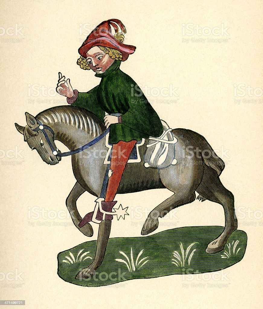 Canterbury Tales - The Canon's Yeoman royalty-free stock vector art