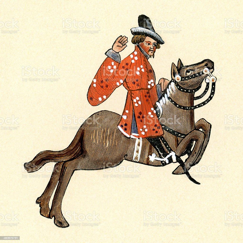 Canterbury Tales - The Merchant royalty-free stock vector art