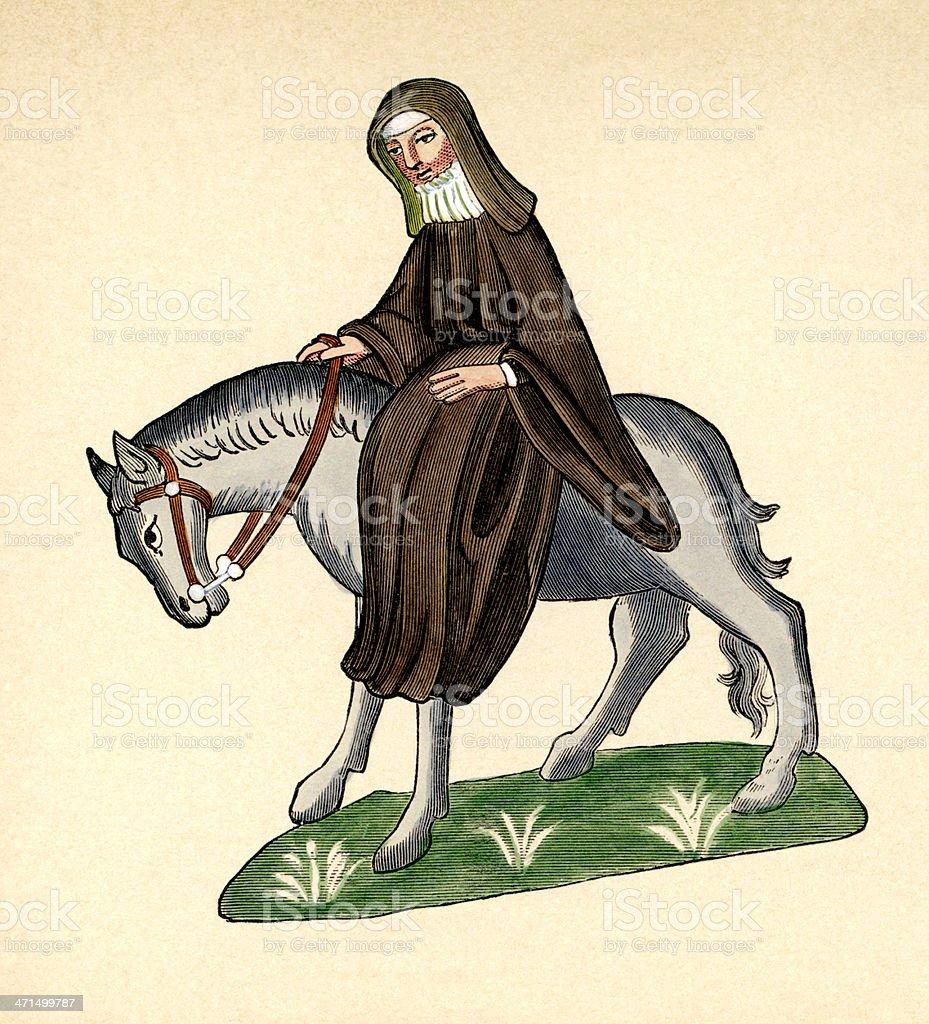 Canterbury Tales - The Second Nun royalty-free stock vector art
