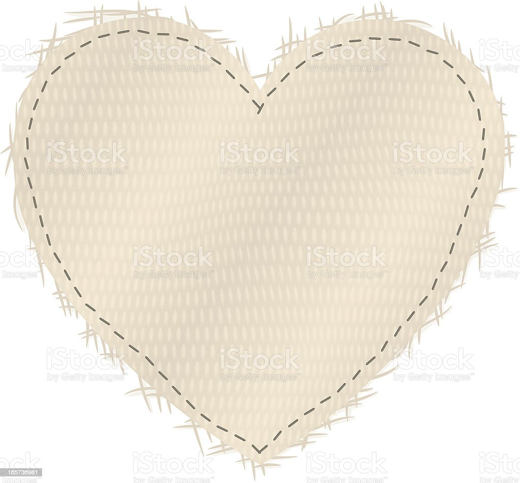 canvas heart vector art illustration