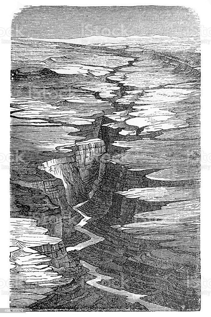 Canyon vector art illustration