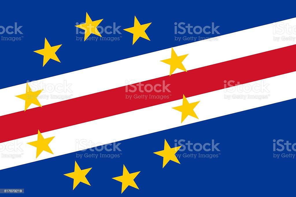 Cape Verde Flag. Close up. vector art illustration