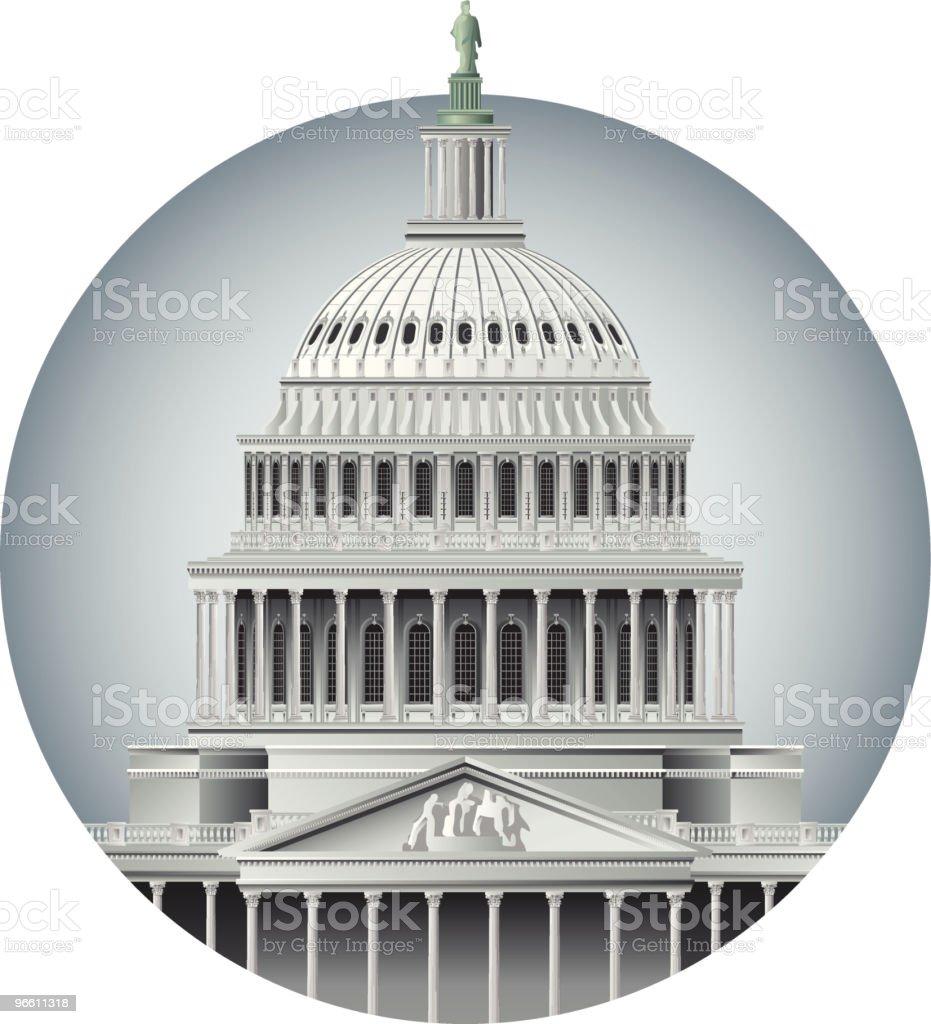 Capitol Dome vector art illustration
