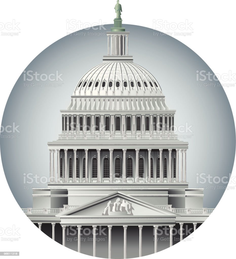 Capitol Dome vector art illustration