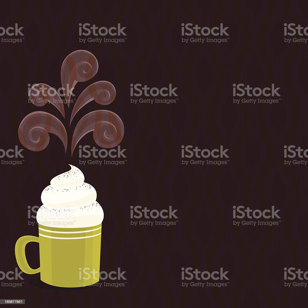 Cappuccino background vector art illustration