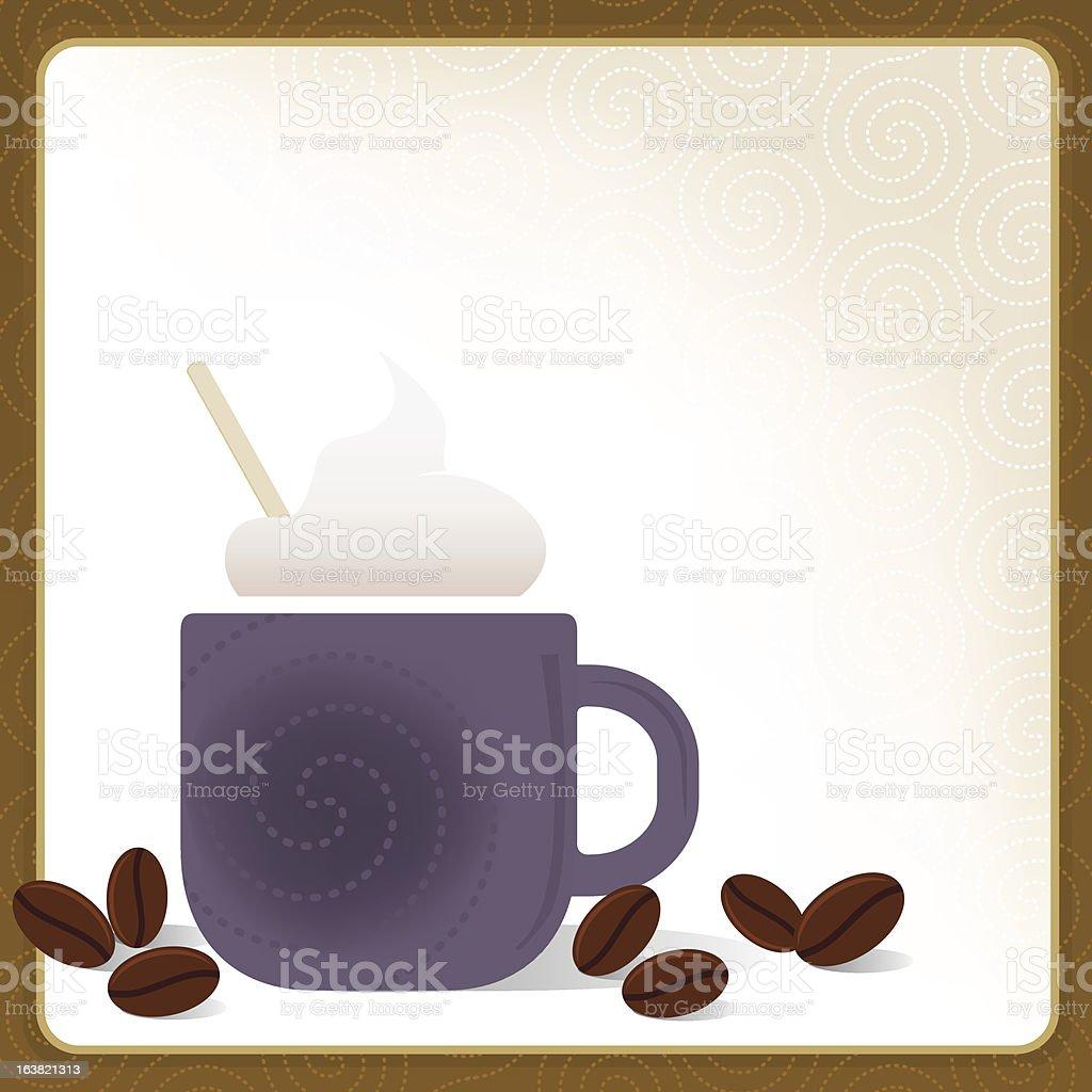 Cappuccino Frame royalty-free stock vector art