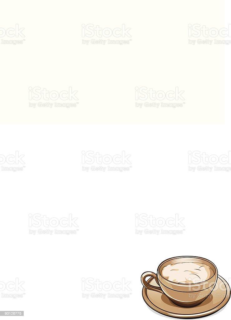 Cappuccino royalty-free stock vector art