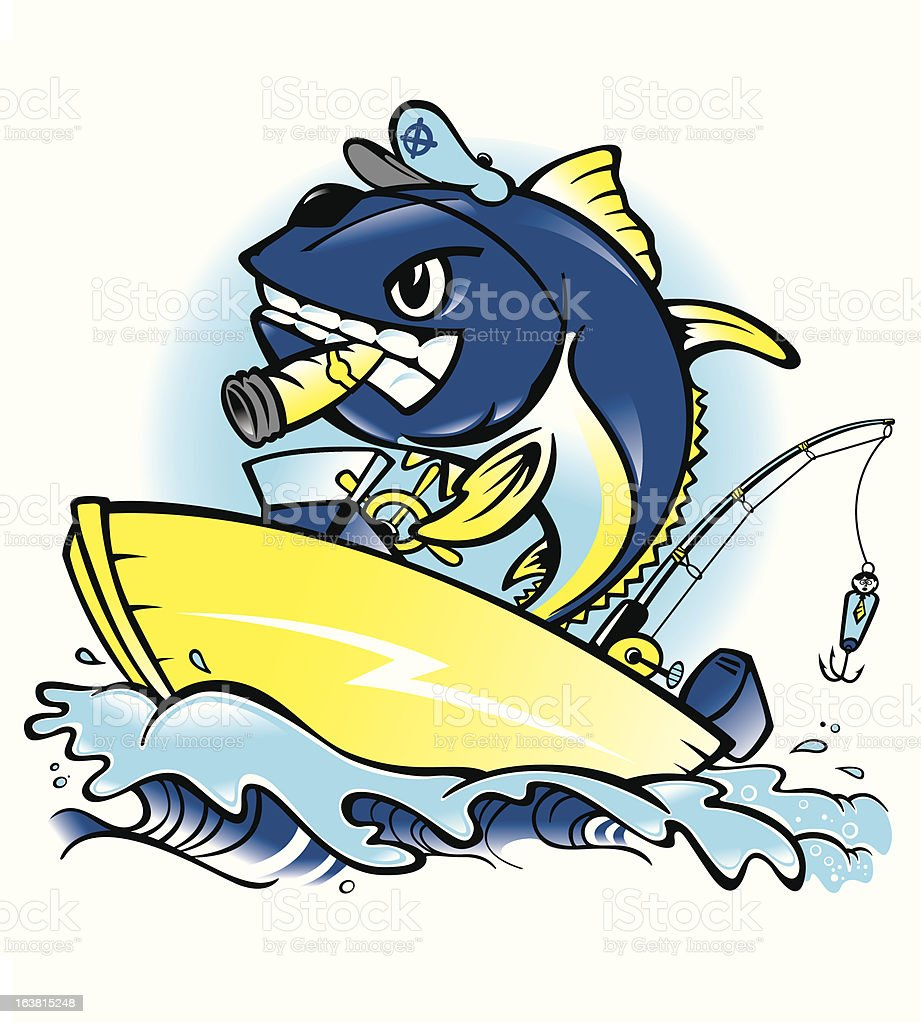 Capt. Tuna royalty-free stock vector art