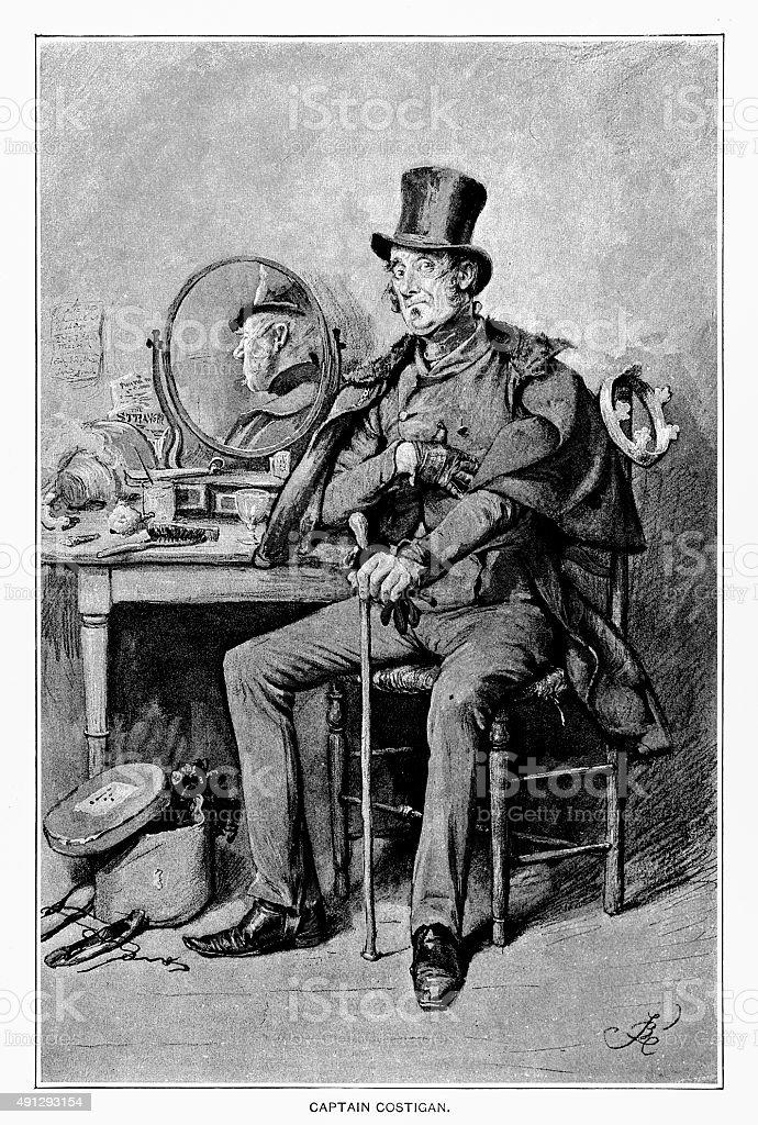 Captain Costigan vector art illustration