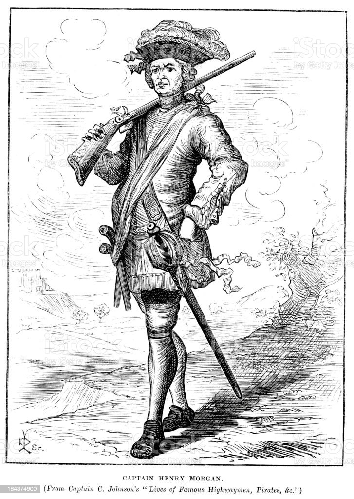 Captain Henry Morgan royalty-free stock vector art