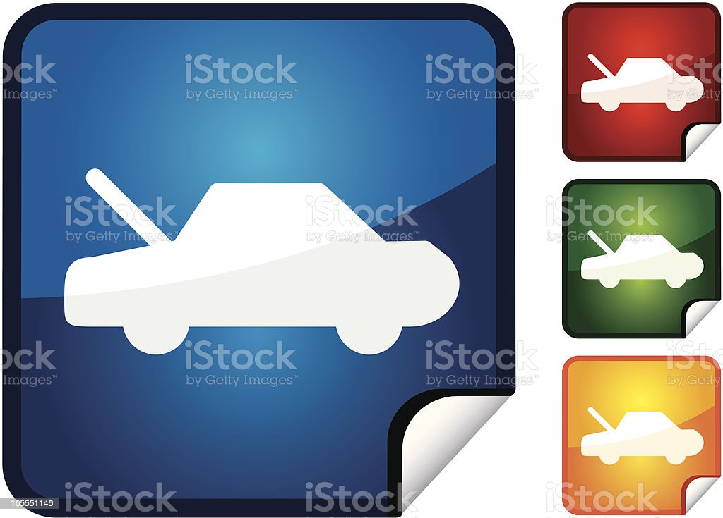Car Bonnet | Sticker Collection vector art illustration