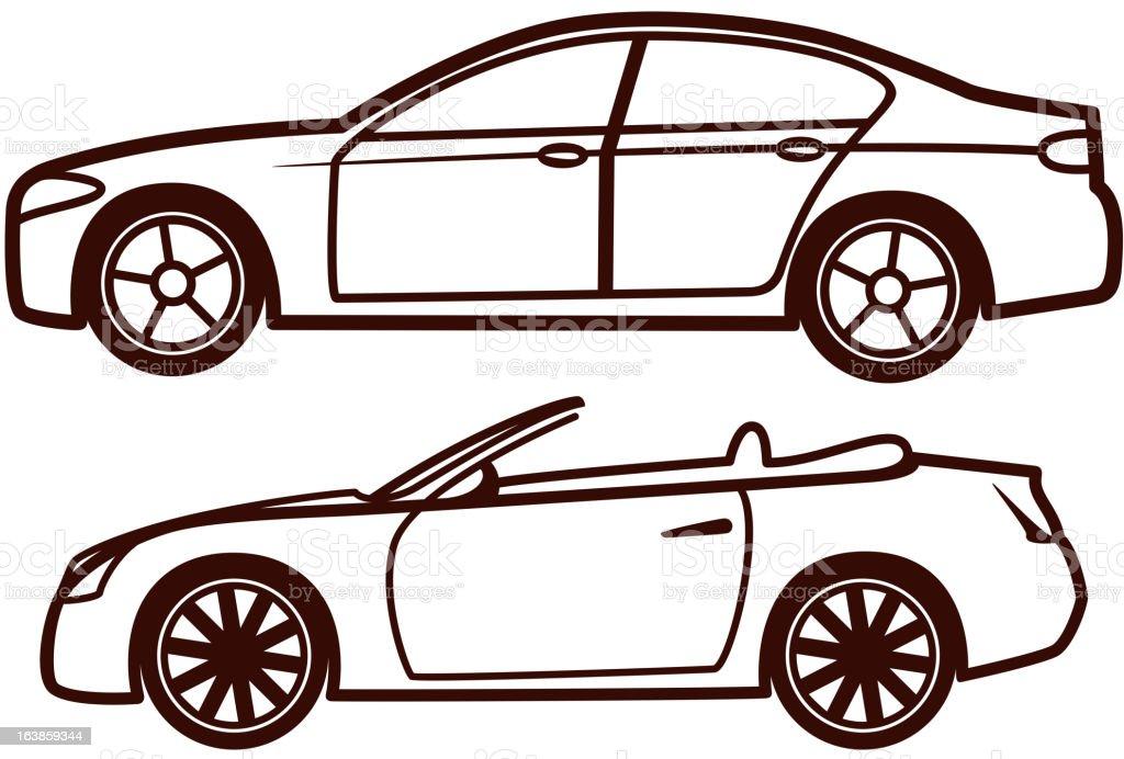 Car collection royalty-free stock vector art