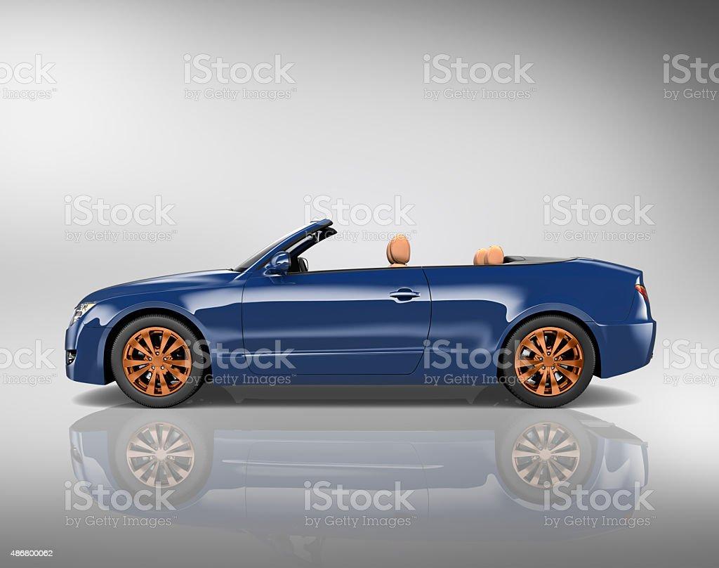 Car Convertible Transportation 3D Illustration Concept vector art illustration