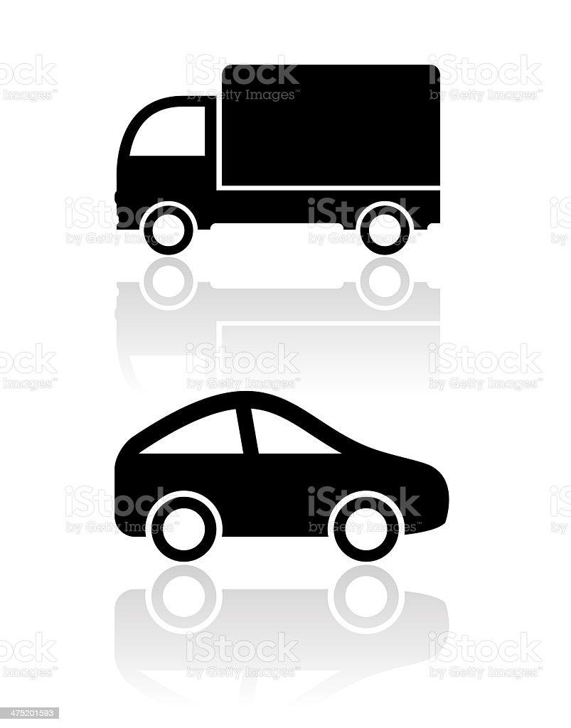 Car icons royalty-free stock vector art