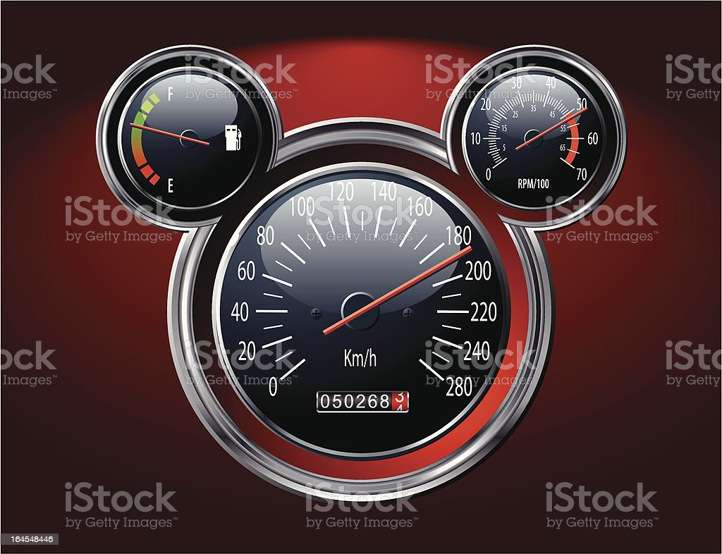 car instruments panel royalty-free stock vector art
