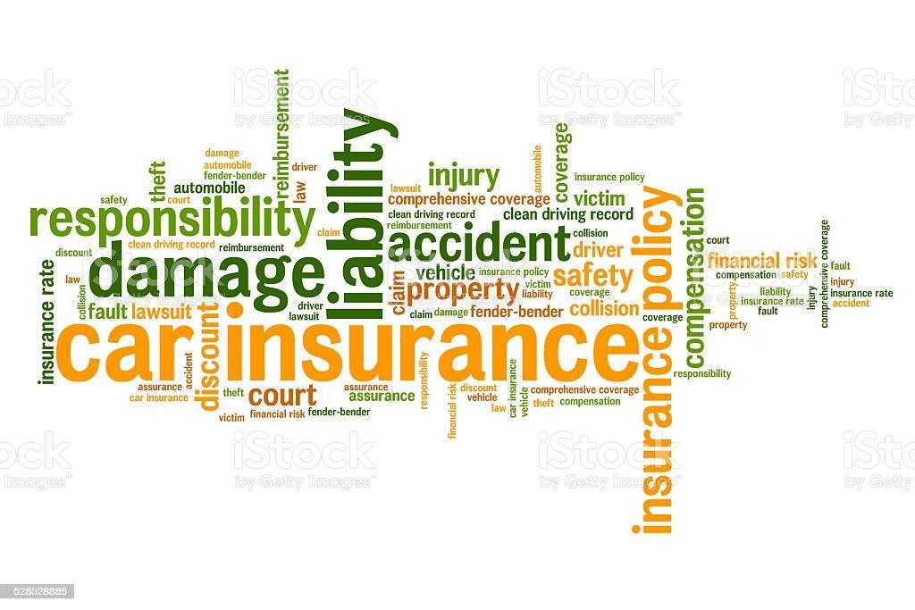Car insurance policy vector art illustration