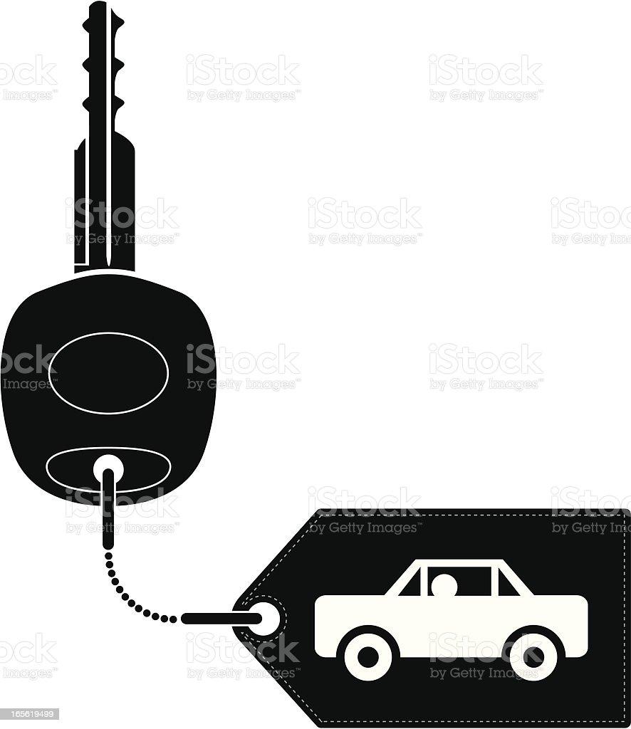 Car key vector art illustration