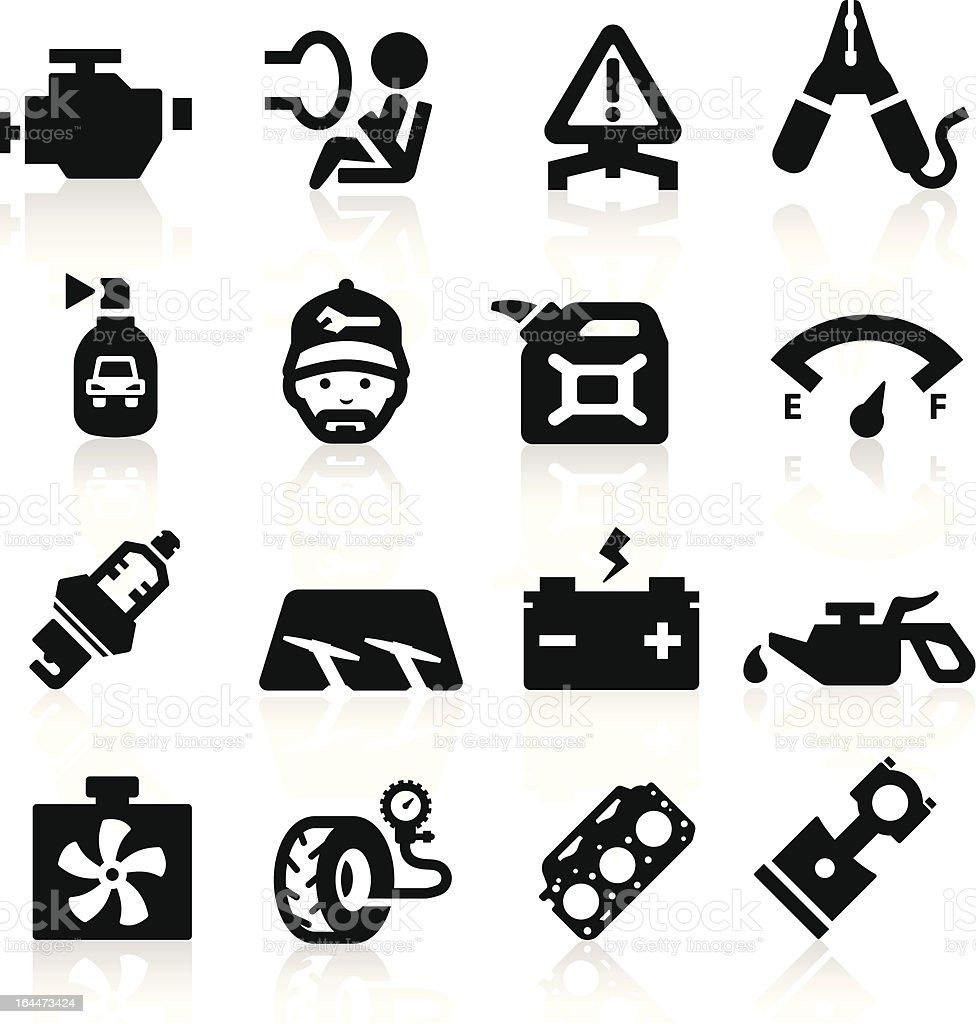 Car parts icons set  Elegant series royalty-free stock vector art