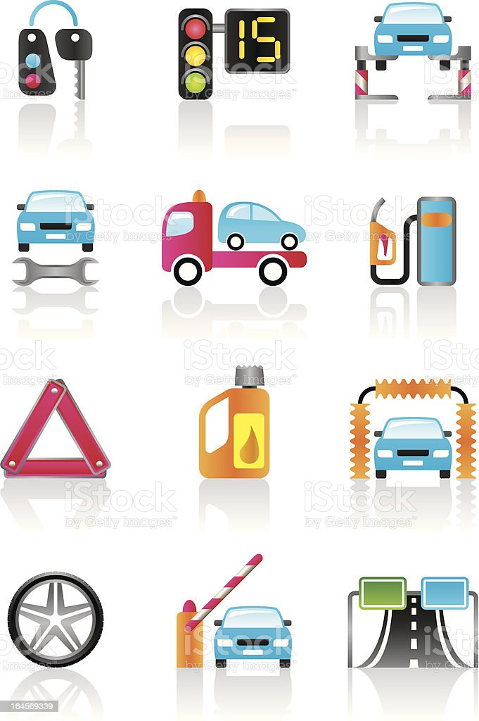 Car service and auto assistance royalty-free stock vector art
