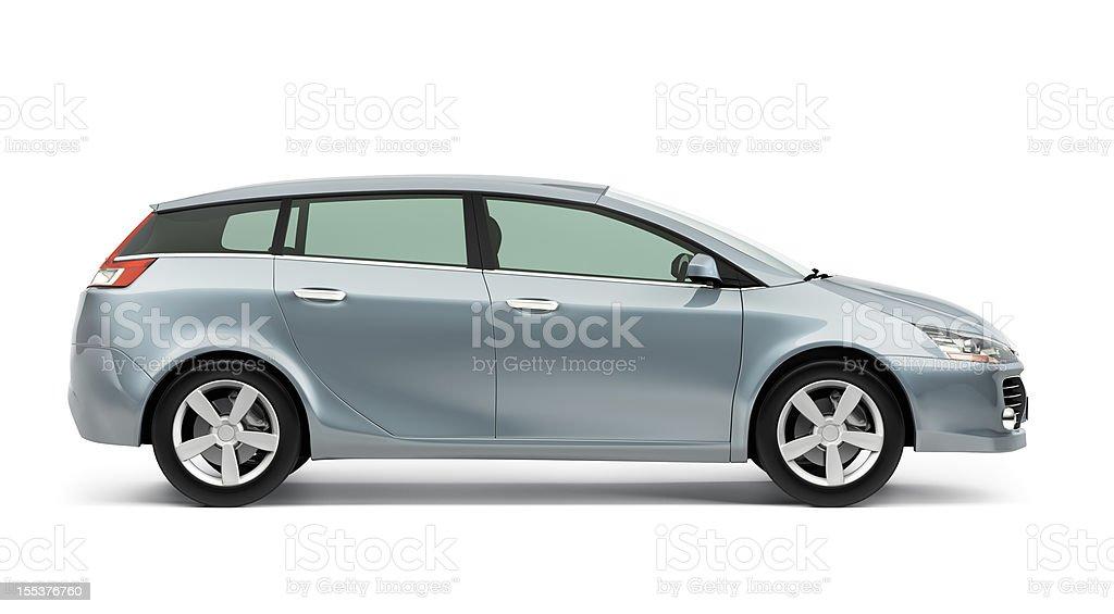 Car side vector art illustration