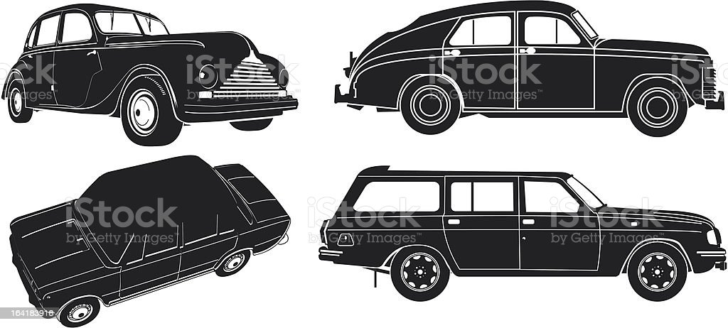 Car silhouette set royalty-free stock vector art