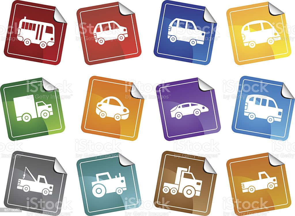 Car Stickers royalty-free stock vector art