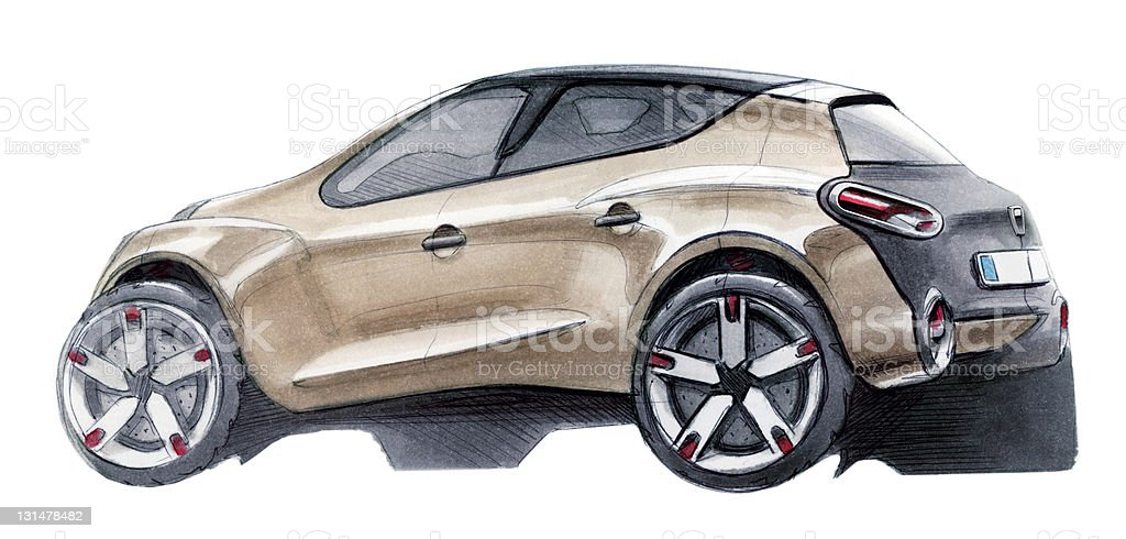 Car SUV Sketch royalty-free stock vector art