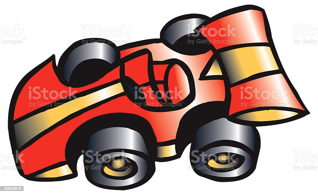 Car Toy vector art illustration