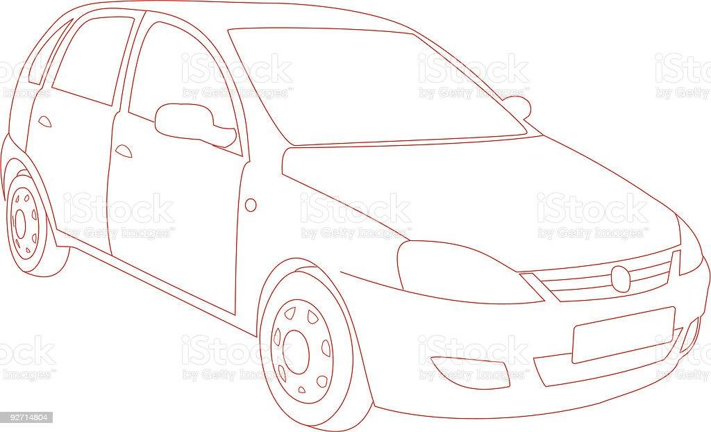Car Trace (Vector) royalty-free stock vector art