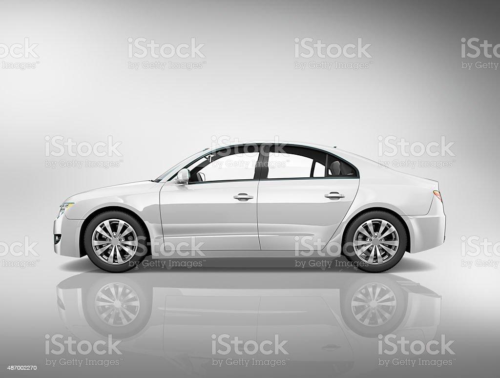 Car Vehicle Transportation 3D Illustration Concept vector art illustration