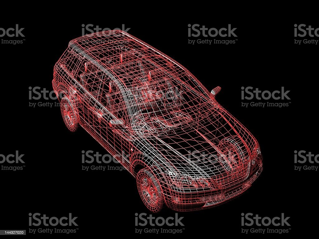 car wire royalty-free stock vector art