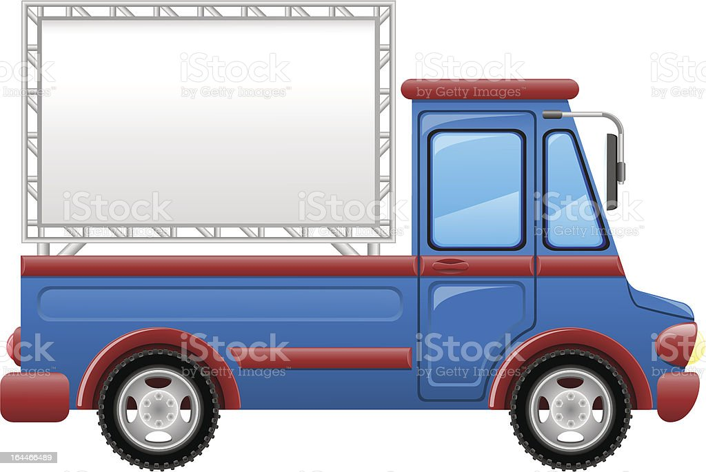 car with a billboard vector illustration royalty-free stock vector art
