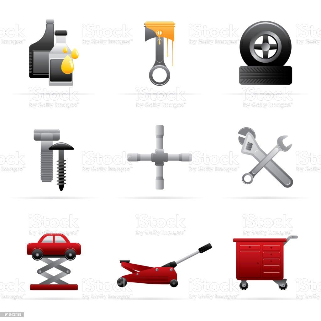 Car Workshop Icon royalty-free stock vector art