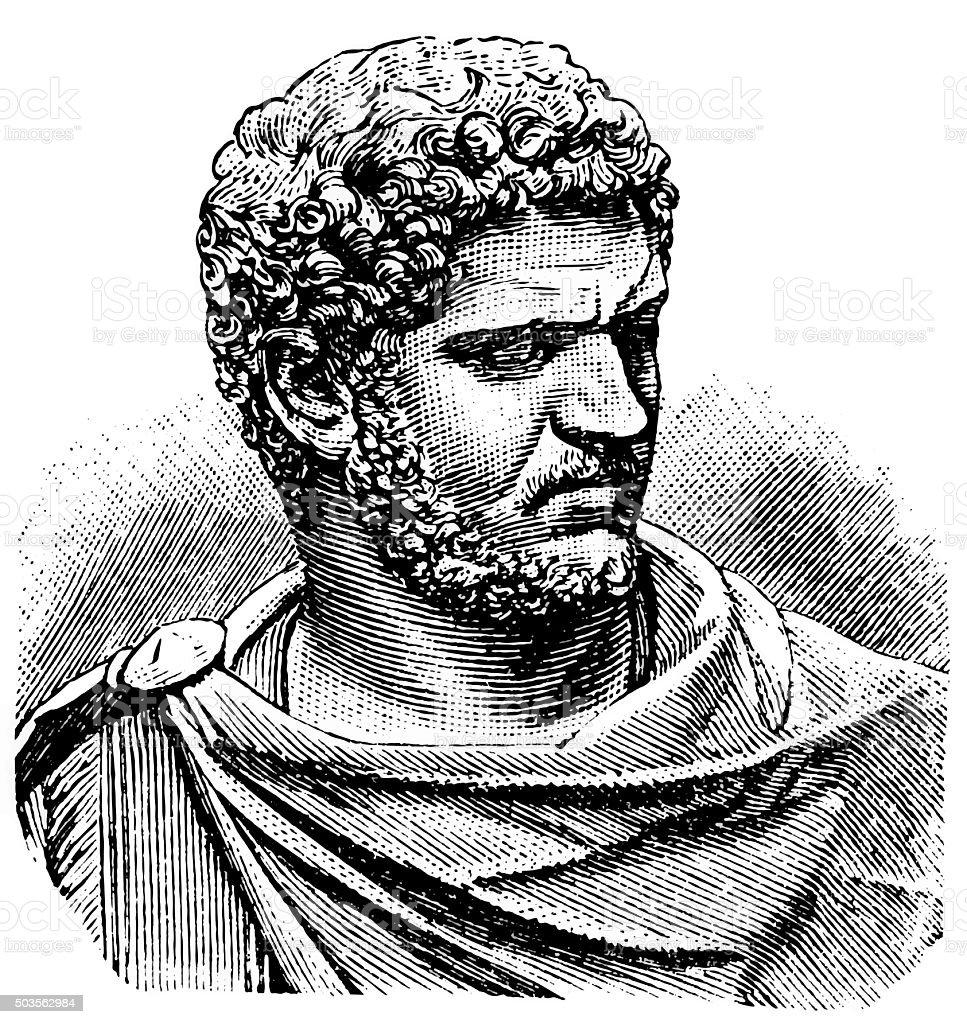 Caracalla vector art illustration