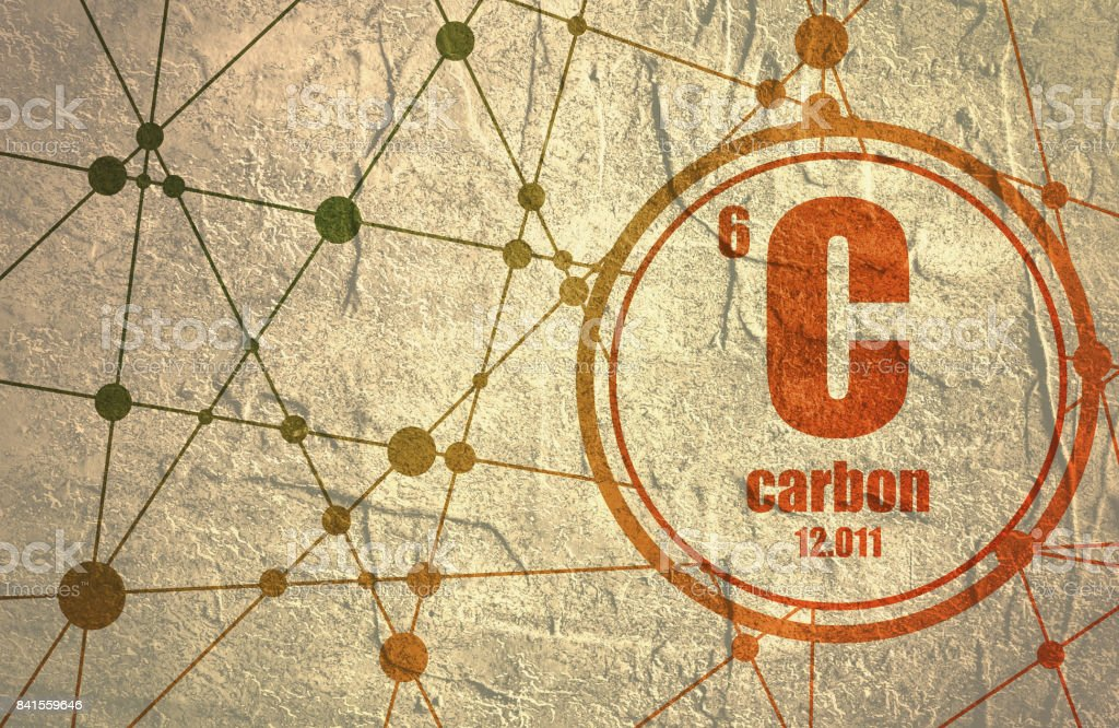 Carbon chemical element. vector art illustration