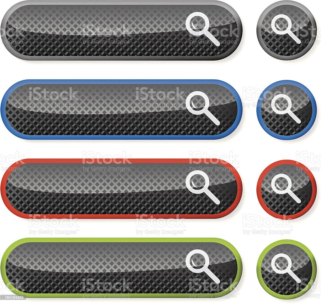 Carbon fiber buttons royalty-free stock vector art