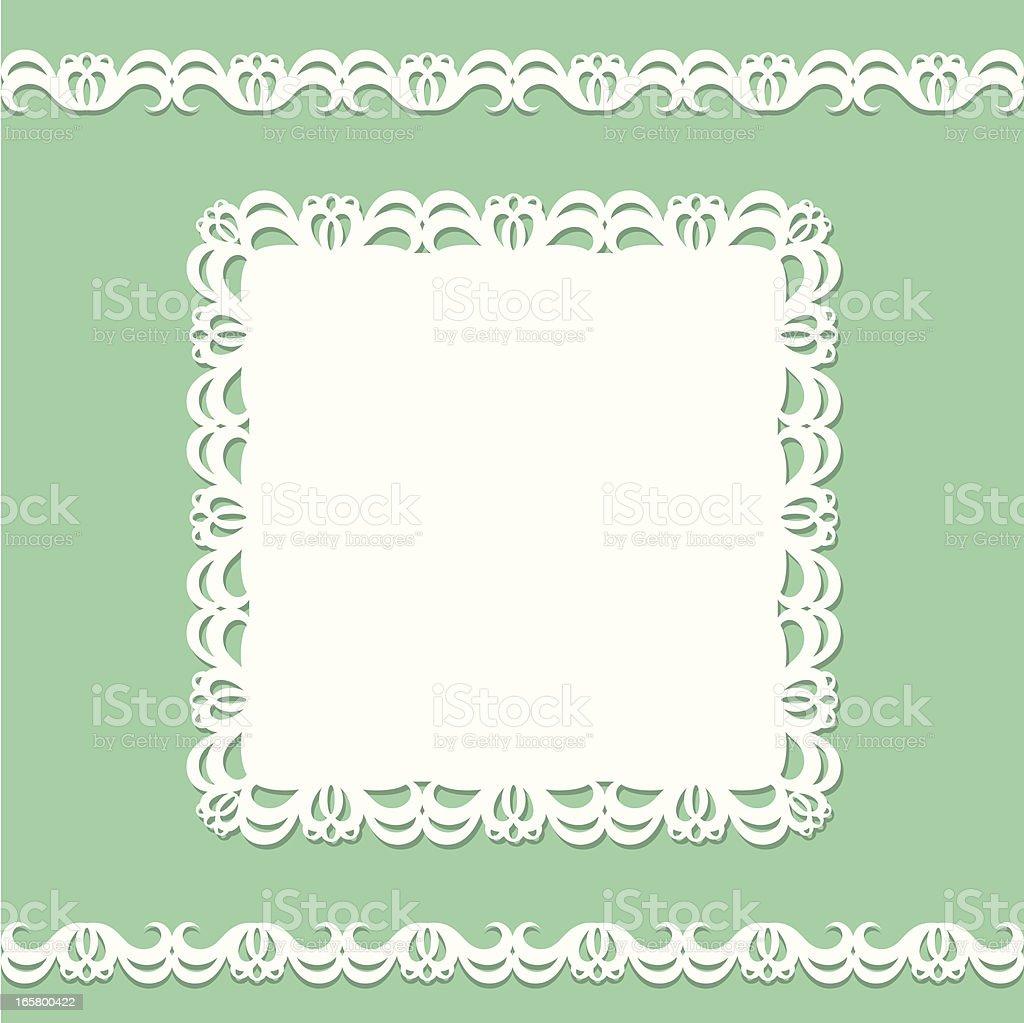Card doily vector art illustration