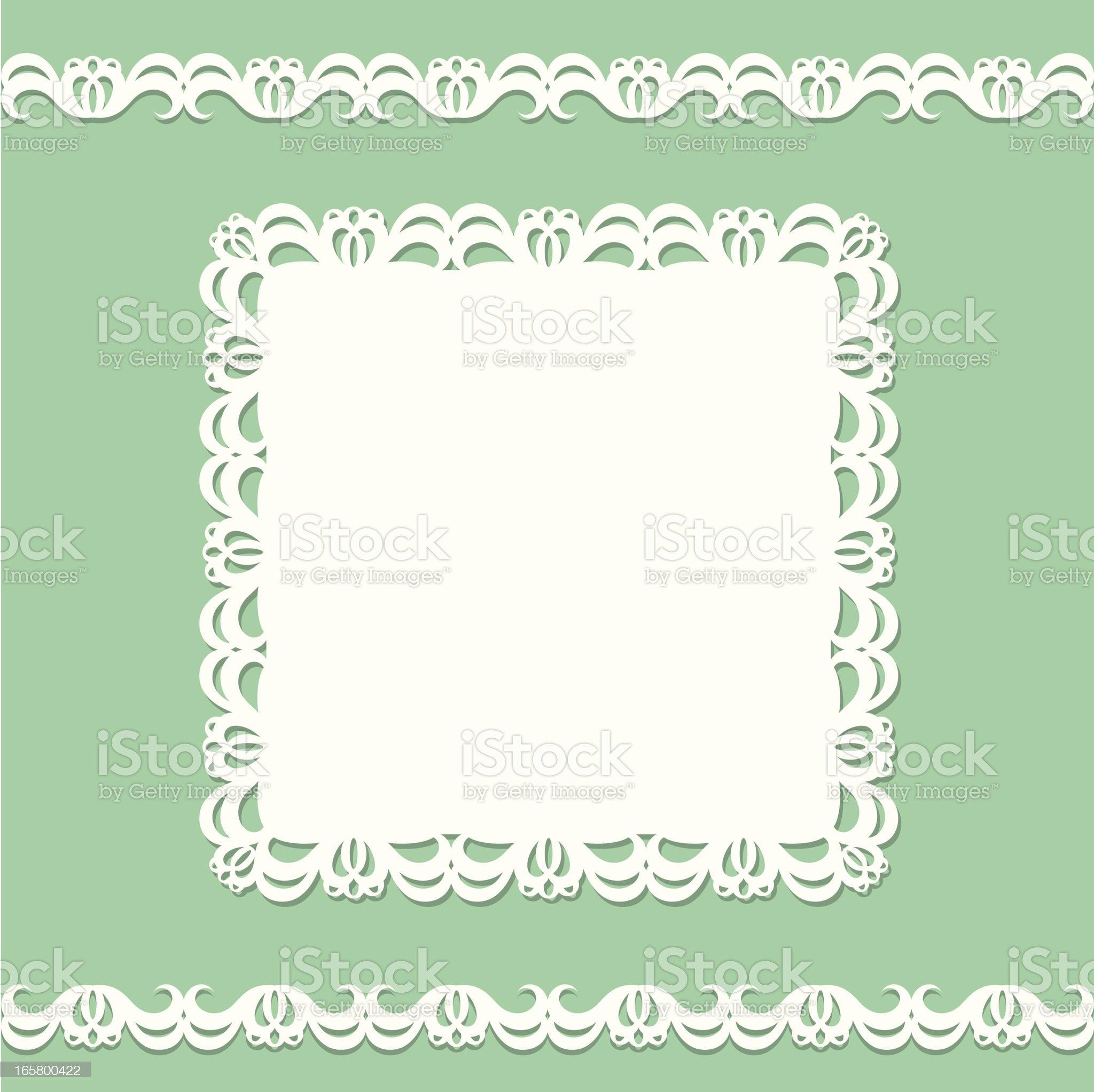 Card doily royalty-free stock vector art