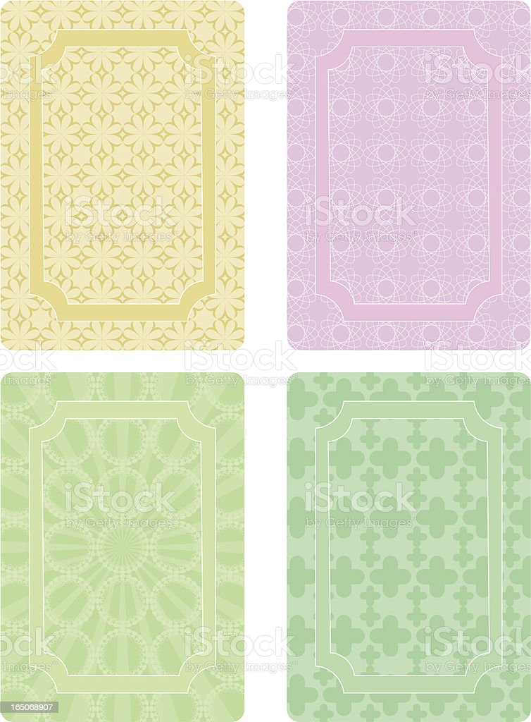 Card Series royalty-free stock vector art