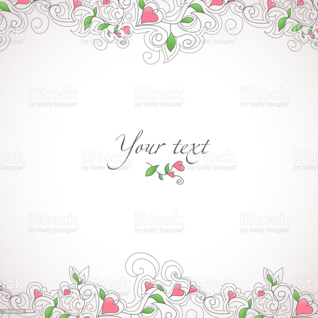 Card template with hearts royalty-free stock vector art