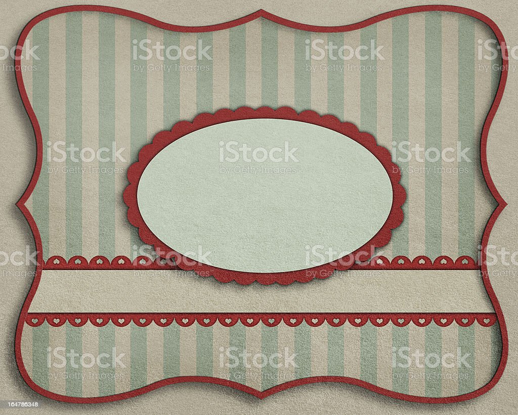 Card with  decorative oval. royalty-free stock vector art