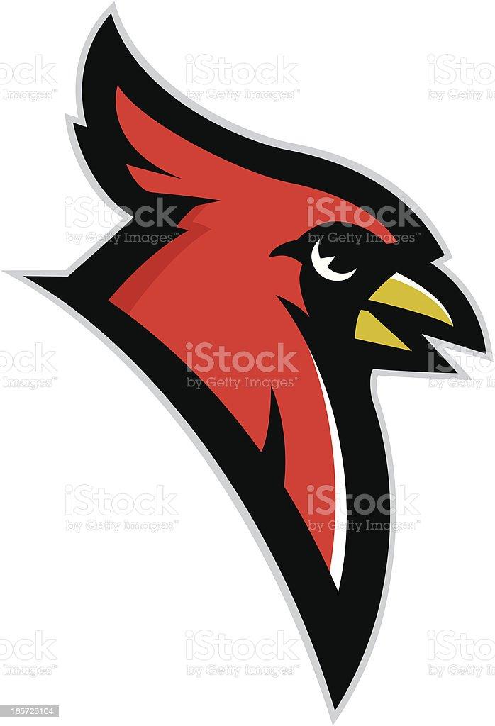 Cardinal head mascot vector art illustration