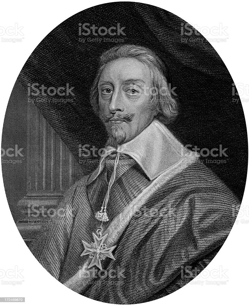 Cardinal Richelieu,French Prime Minister royalty-free stock vector art