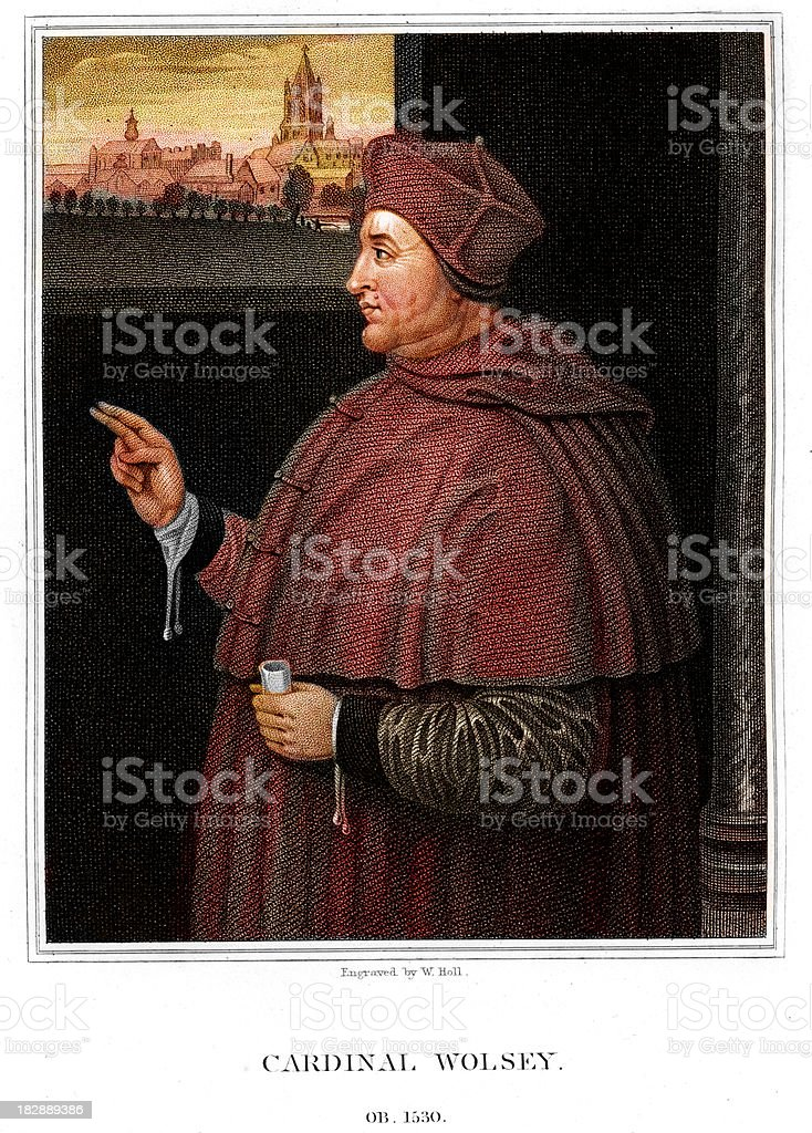 Cardinal Thomas Wolsey vector art illustration