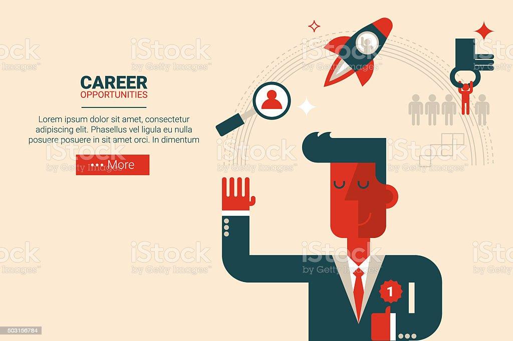 Career growth concept vector art illustration