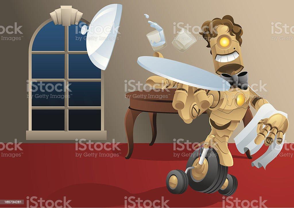 Careless Waiter vector art illustration