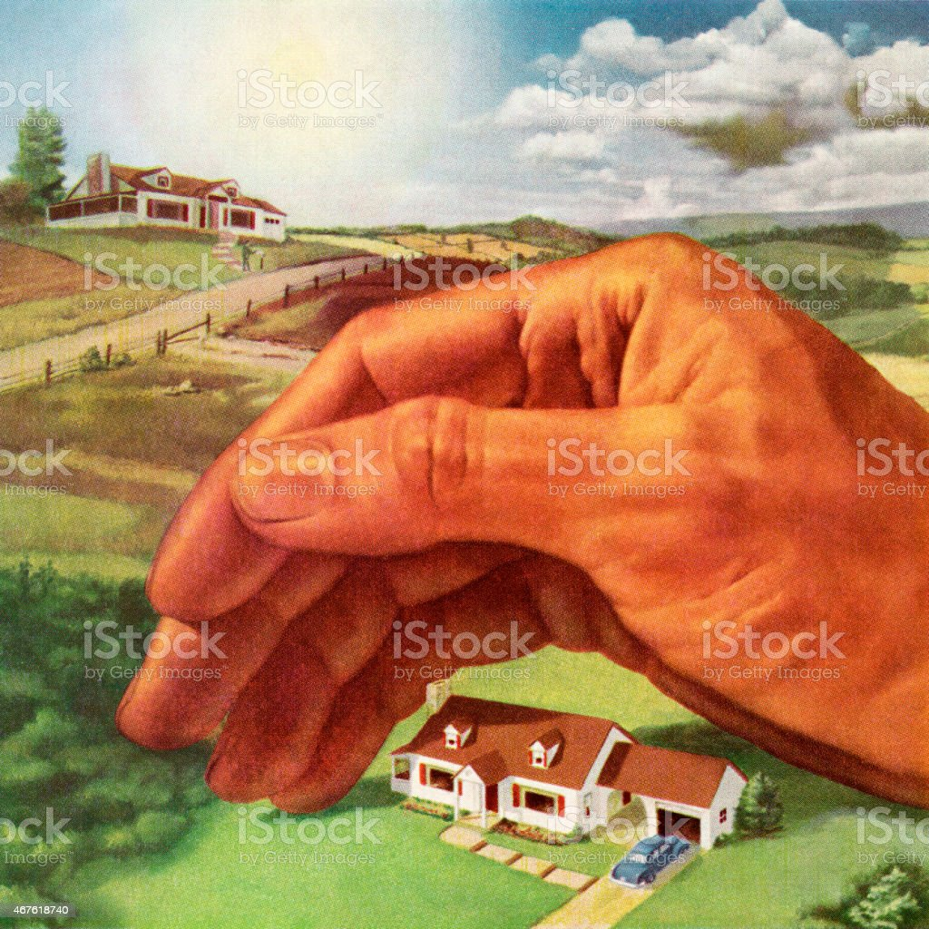 Caring for the Land vector art illustration