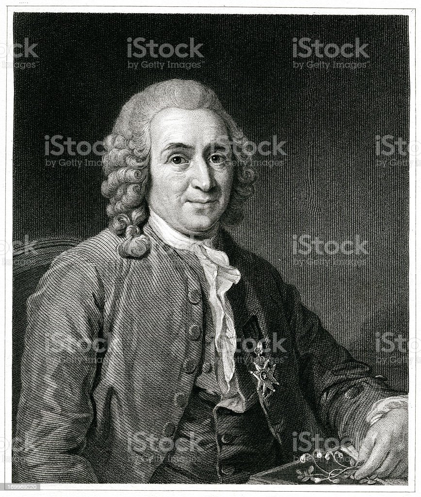 Carl Linnaeus vector art illustration