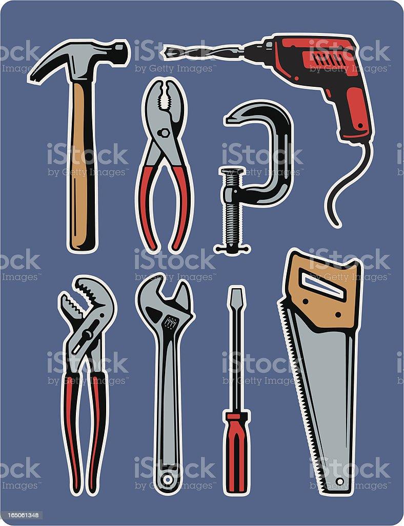 Carpenters Tools royalty-free stock vector art