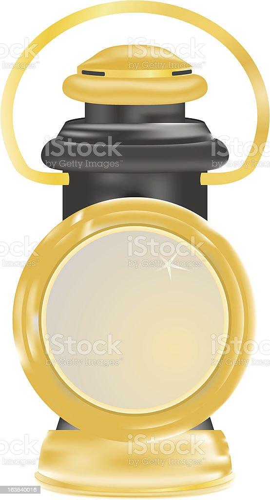 Carriage oil lamp vector art illustration